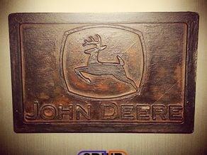 John Deere Logo Plaque Wall Hanger