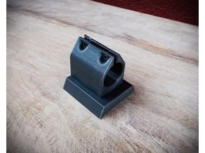 Ball joint phone mount with tripod mount - Pipe Clamp to Hama Star63