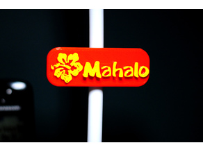 Mahalo Fridge Magnet