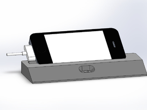 iPhone 4 stand with sound-tube and loading possibility