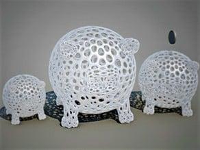 Voronoi piggy bank