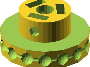 Parametric ball chain pulley