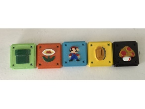 Mario Azul Board Game Tiles