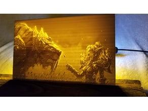 Warcraft Zulian Tiger, Blood Elf Lithophane