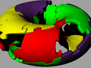 Twisted Torus 3D jigsaw puzzle.