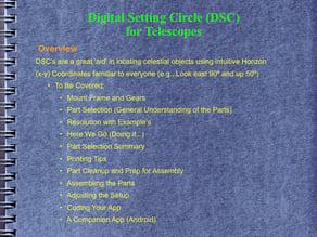 DSC - Digital Setting Circle