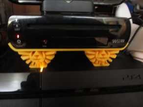 Nintendo Wii U Horizontal Stand W/ Zelda Hyrule Crest