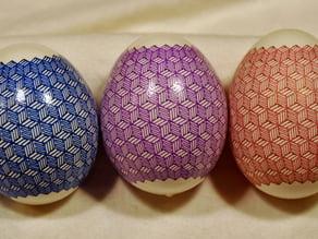 Monochrome geometric Eggbot plot