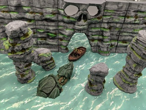 OpenForge - Modular  Sea Cliff Walls
