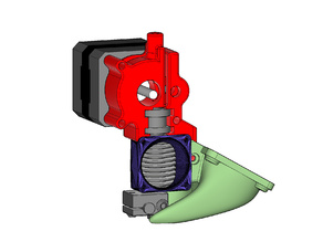 E3D v6 40mm Fan Duct and Extruder for NEMA-17 Motor