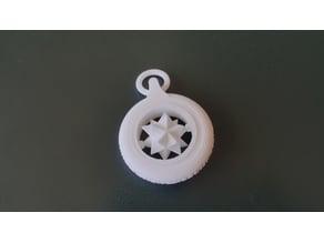 Spinning keychain (P3P Logo)