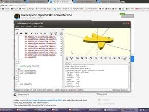 Inkscape to OpenSCAD converter v6a
