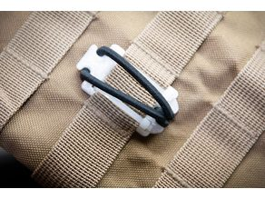 Molle Tie Down, zip-tied