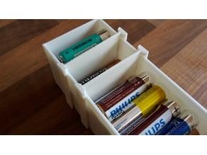 AA Battery Storage Box Divider