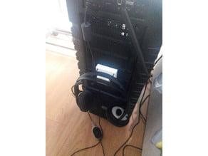 Headphone case holder