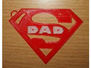 Super Dad Keyring (Fathers Day)