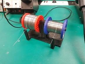 Double solder spool holder