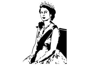 Queen Elizabeth stencil