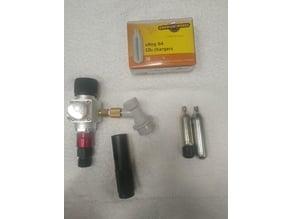 Mini regulator CO2 spacier(converter) 12 gram to 8 gram cartridges