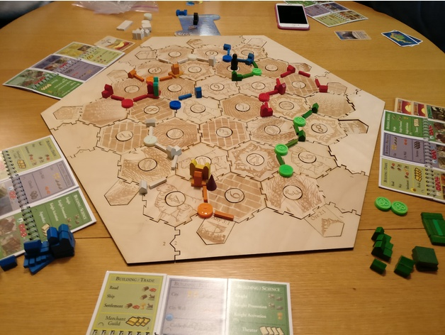 Remixes Of Lasercut Tiles For Settlers Of Catan Thingiverse