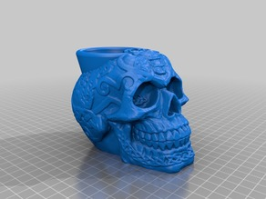 Celtic Skull Flower pot