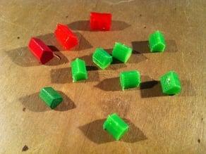 Monopoly house and hostel spar parts