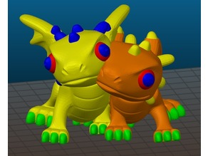 cute dragon couple - multimaterial remix
