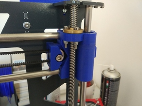 Prusa Steel X axis with tensioner and 8mm leadscrew support