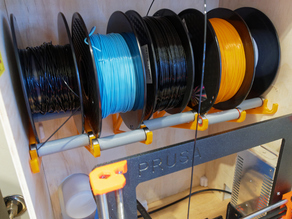 Compact, extensible, wall mount spool holder for any number of spools, designed for Prusa MMU