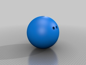 1:1 scale customizable bowling ball