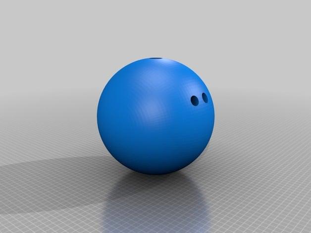 1:1 scale customizable bowling ball by jinhwanlazy - Thingiverse