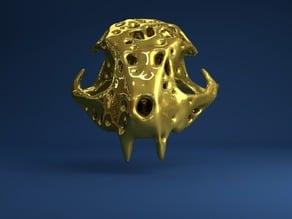 Feline Skull Voronoi Style