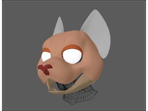 Fursuit- or puppet-head base - version46 - toon cat