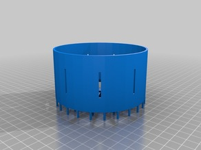 Zoetrope Wheel (Print Ready /W Black Print Supports)