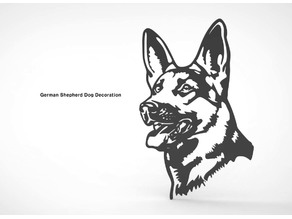 German Shepherd Dog Wall Decoration