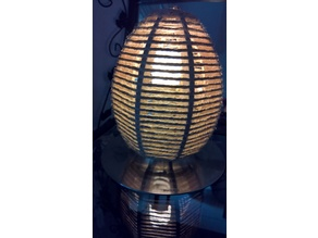 Lampe Corde Oeuf pour remplacer globe verre sur lampe Philips --- Egg Rope Lamp to replace globe glass on lamp Philips