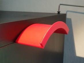 Hängare: Headphone holder insertable in an Ikea Kallax corner