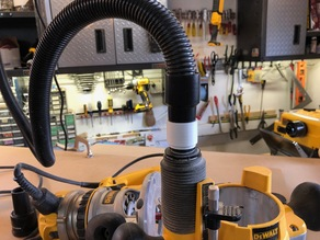 Dewalt Plunge Router to 30mm OD vacuum adapter