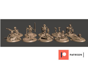 28mm Undead Skeleton Warriors X10 - Rising from the Grave / Earth