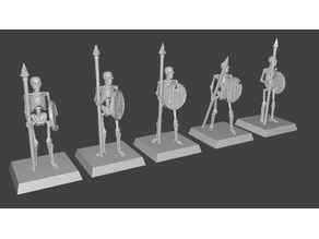 Skeleton Spearmen Miniatures verion #2