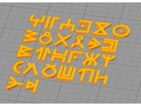 Wakandan Font