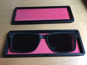 Glasses Case for clip-on sunglasses (Zenni model 6499621)