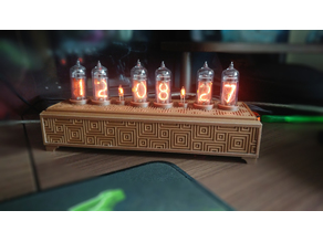 Nixie Clock Wooden Box Cover
