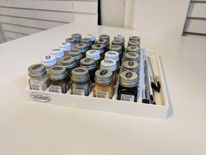 Testors Bottle Paint and Brush Tray Holder 6x6 and 6x5
