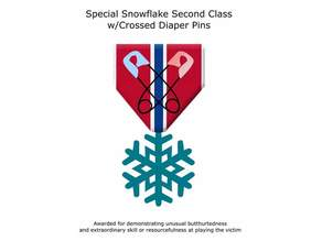 Special Snowflake Ribbon Second Class With Cross Diaper PIns