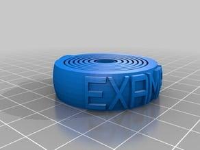 Gyroscopic Relaxing Keyring Generator for 3D printing