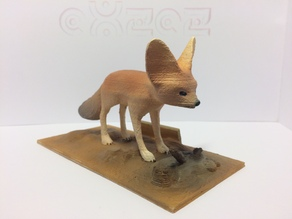 Fennec Fox (Incl. standing Base)