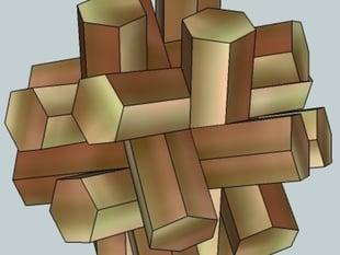Hexsticks puzzle (by Stuart Coffin)