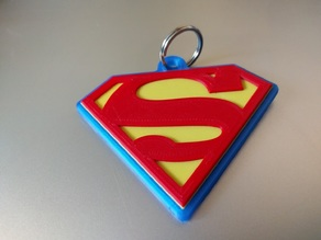 Superman/Supergirl Symbol key fob.