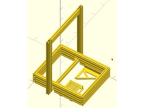 Portable AM8 - Metal Frame for Anet A8 (work in progress)